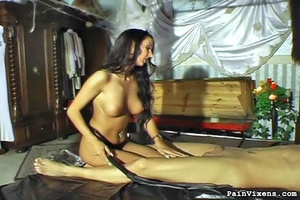 Sexy raven haired chick teasing her hand - XXX Dessert - Picture 11