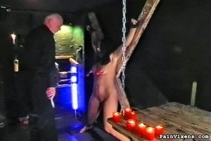 Young brunette bitch gets dominated by h - XXX Dessert - Picture 2