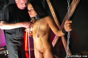 Young brunette bitch gets dominated by h - XXX Dessert - Picture 7