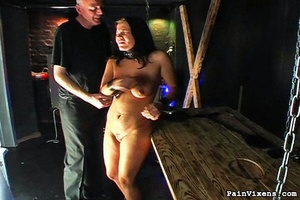 Young brunette bitch gets dominated by h - XXX Dessert - Picture 11