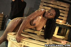 Tall black goddess with big boobs gets c - XXX Dessert - Picture 16