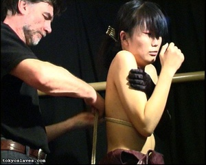 Japanese lady in bondage gets her pussy  - XXX Dessert - Picture 10