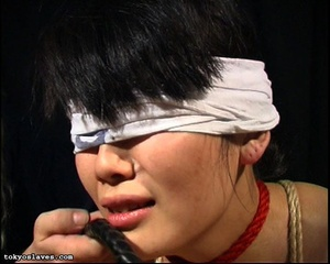 Japanese lady in bondage gets her pussy  - XXX Dessert - Picture 16