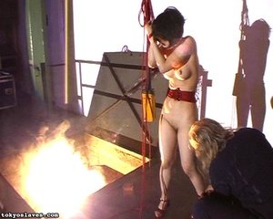Hot model in bondage is ready for a love - XXX Dessert - Picture 11
