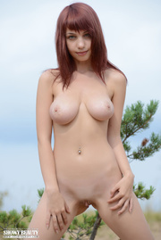 stunning young babe bares