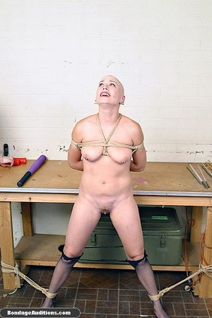 Horny bald bitch gets a really nasty can - XXX Dessert - Picture 10