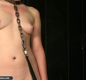 Caged darling is ready for a nasty dildo punishment