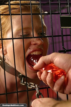 Caged darling is ready for a nasty dildo - XXX Dessert - Picture 8