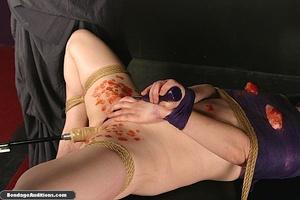 Sweet little tied up gal gets a nice wax - XXX Dessert - Picture 12