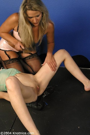 Beautiful tied up lady is ready for a di - XXX Dessert - Picture 10