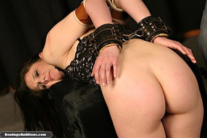 Tied up lady shows her perfect round but - XXX Dessert - Picture 15