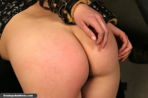 Tied up lady shows her perfect round but - XXX Dessert - Picture 16