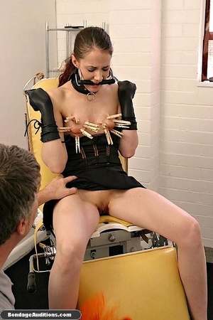 Cute brunette model likes clothespins on - XXX Dessert - Picture 7