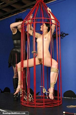 Caged slut gets a painful tits treatment - XXX Dessert - Picture 7
