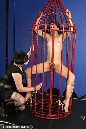 Caged slut gets a painful tits treatment - XXX Dessert - Picture 12