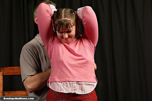 Cute schoolgirl tries to please her naug - XXX Dessert - Picture 2