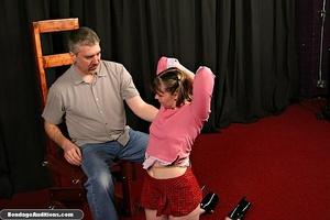 Cute schoolgirl tries to please her naug - XXX Dessert - Picture 3