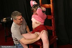Cute schoolgirl tries to please her naug - XXX Dessert - Picture 7