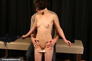 Innocent looking chick gets tied up and  - XXX Dessert - Picture 6