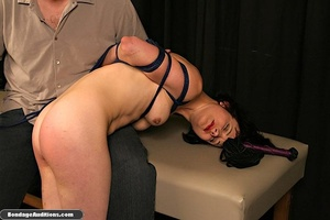 Innocent looking chick gets tied up and  - XXX Dessert - Picture 8