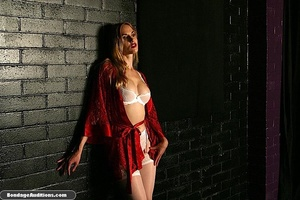 Beautiful lady in red loves some kinky b - XXX Dessert - Picture 2