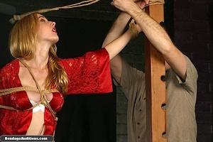 Beautiful lady in red loves some kinky b - XXX Dessert - Picture 3
