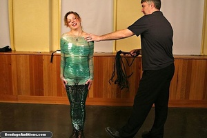 Cute caged slut gets drilled and wrapped - XXX Dessert - Picture 14