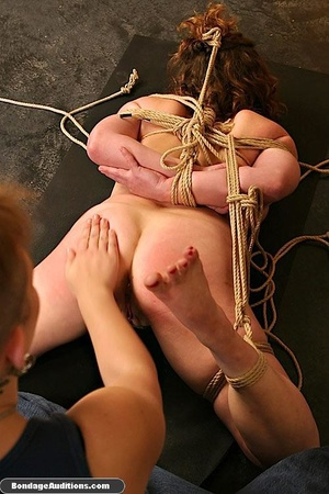 Cutie gets tied up really tight by a cru - XXX Dessert - Picture 5