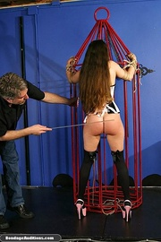 slender caged darling gets