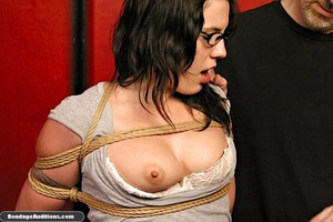 Slutty girl with glasses gets tied up an - XXX Dessert - Picture 3