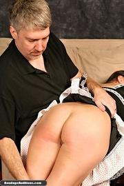 beautiful maid gets spanked