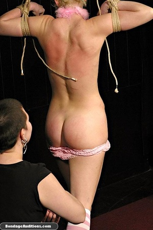 Blonde bunny gets gagged and used by her - XXX Dessert - Picture 3
