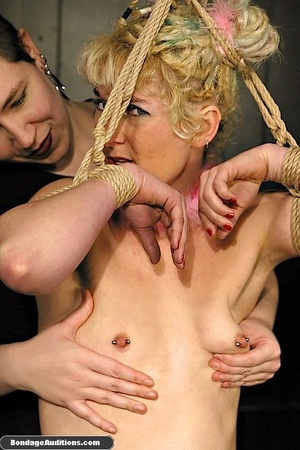 Blonde bunny gets gagged and used by her - XXX Dessert - Picture 4