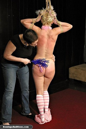 Blonde bunny gets gagged and used by her - XXX Dessert - Picture 7