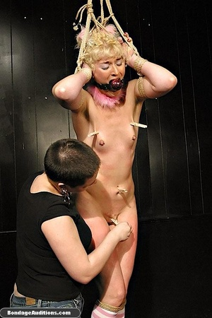 Blonde bunny gets gagged and used by her - XXX Dessert - Picture 13