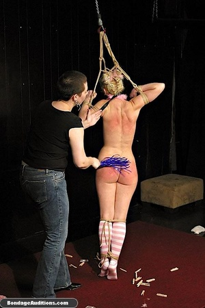 Blonde bunny gets gagged and used by her - XXX Dessert - Picture 14