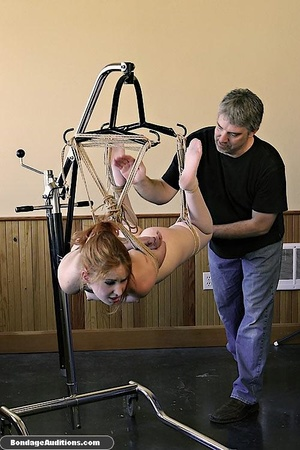 Redhead sweetie gets tied up and drilled - XXX Dessert - Picture 11