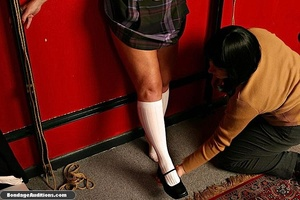 Tied up MILF gets teased and sucks a nic - XXX Dessert - Picture 5
