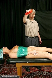 wrapped darling gets waxed