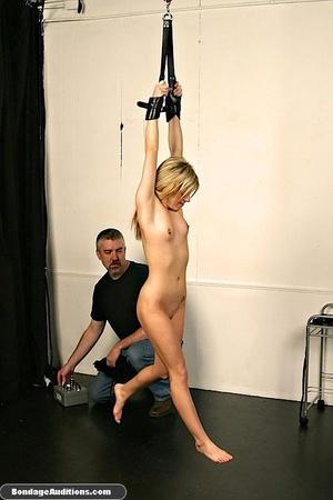 Gagged blonde darling gets spanked hard  - XXX Dessert - Picture 2