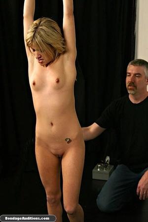 Gagged blonde darling gets spanked hard  - XXX Dessert - Picture 4