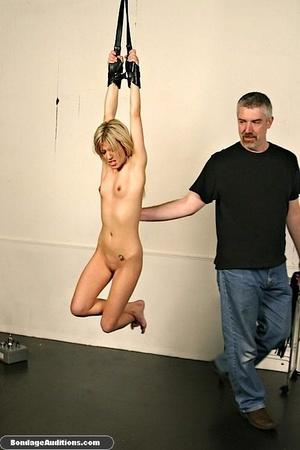Gagged blonde darling gets spanked hard  - XXX Dessert - Picture 6