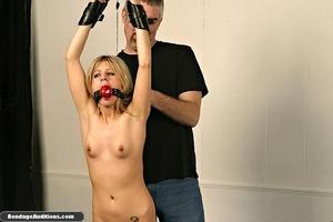 Gagged blonde darling gets spanked hard  - XXX Dessert - Picture 9