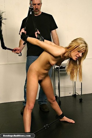 Gagged blonde darling gets spanked hard  - XXX Dessert - Picture 11