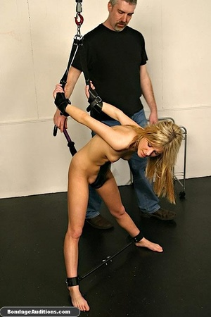 Gagged blonde darling gets spanked hard  - XXX Dessert - Picture 12