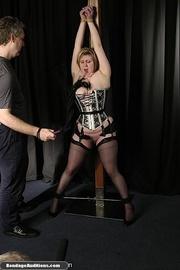 curvy slut corset gets