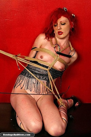 Redhead hottie gets tied and sucks a bla - XXX Dessert - Picture 15