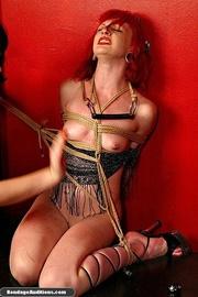 redhead hottie gets tied