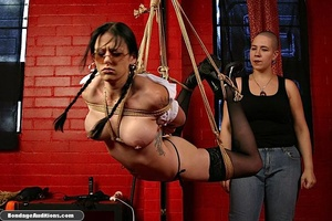 Bitch with glasses gets tied up by her m - XXX Dessert - Picture 6