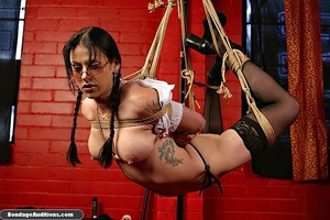 Bitch with glasses gets tied up by her m - XXX Dessert - Picture 7